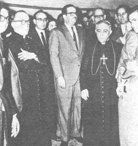 Monseñor Evelio Díaz con-dorticos-y-roa-marzo-1960