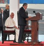 Palabras de bienvenida del presidente Raúl Castro a S.S. Francisco