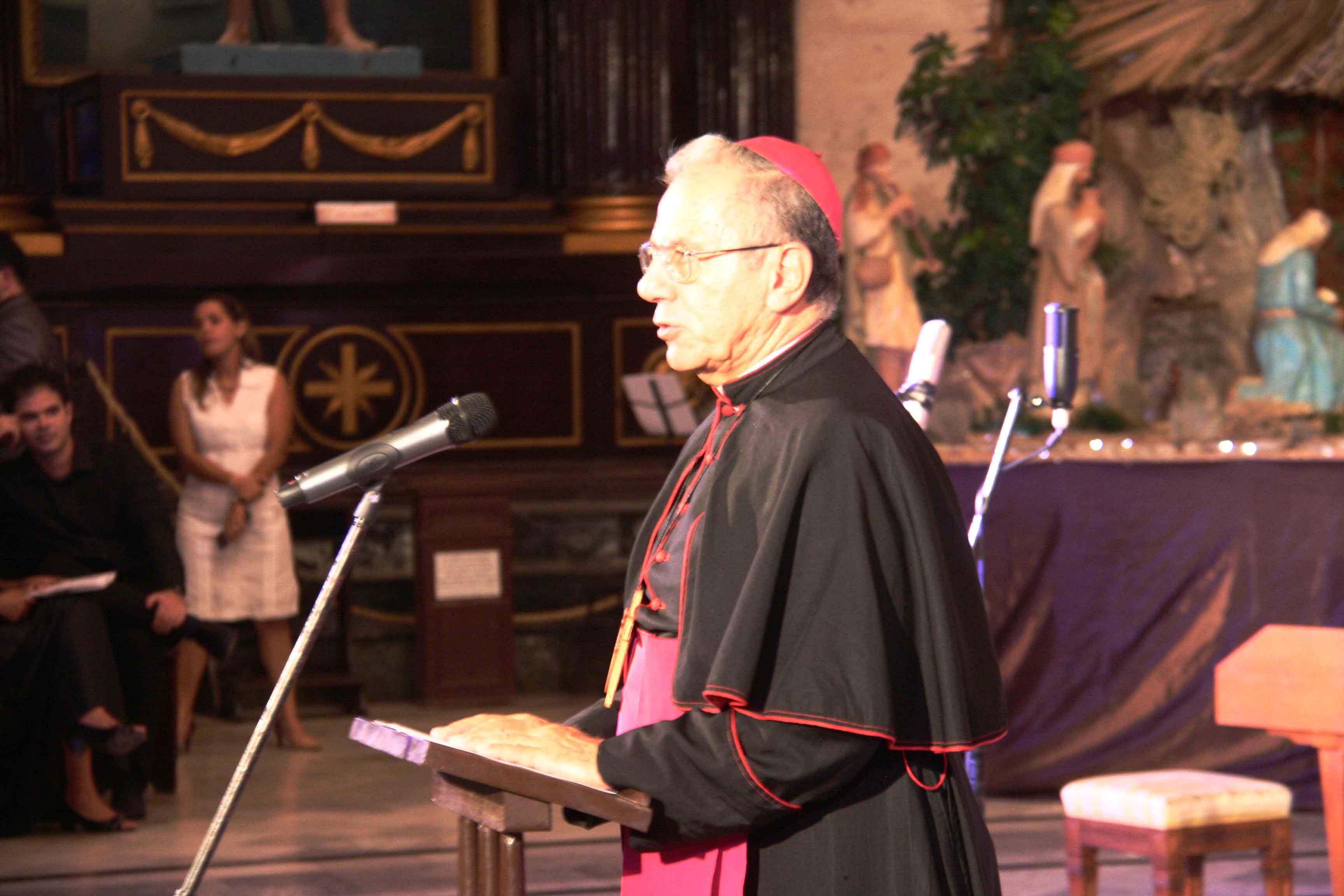 Monseñor Juan de la Caridad García en el concierto de Navidad 2018