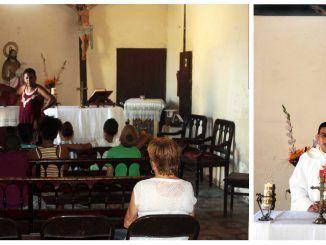 Las actividades religiosas de la parroquia de Jesús del Monte no se han detenido.