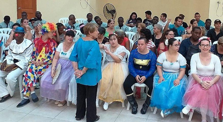 Algunos de los participantes del proyecto Psico-ballet