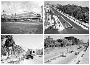 Remodelación de la Avenida Carlos III en la década de 1950.