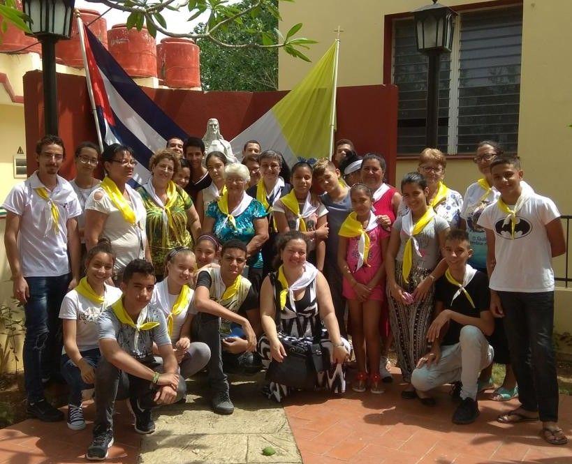 Los asesores de la IAM reunidos en El Rincón llegaron procedentes de distintas comunidades habaneras.