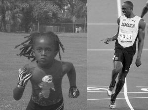 Rudolph Ingram y Usain Bolt
