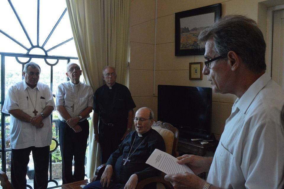 Dr. Gustavo Andújar, quien fuera presidente de SIGNIS Mundial, pronunció en el acto las palabras de elogio