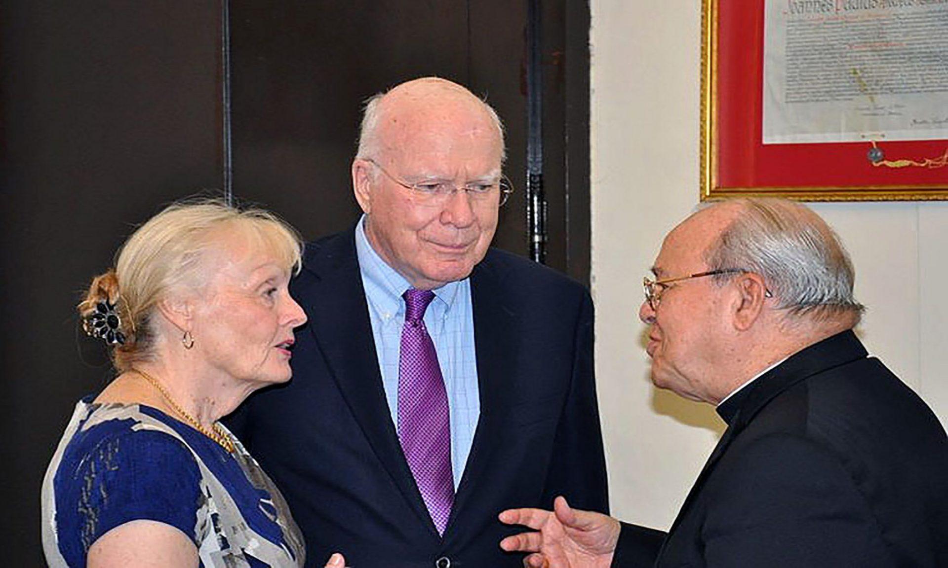 Senador Patrick Leahy y el cardenal Ortega