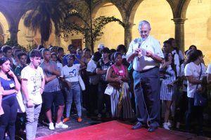 Arzobispo habanero comparte con los jóvene asistentes a la JNJ Cuba 2019