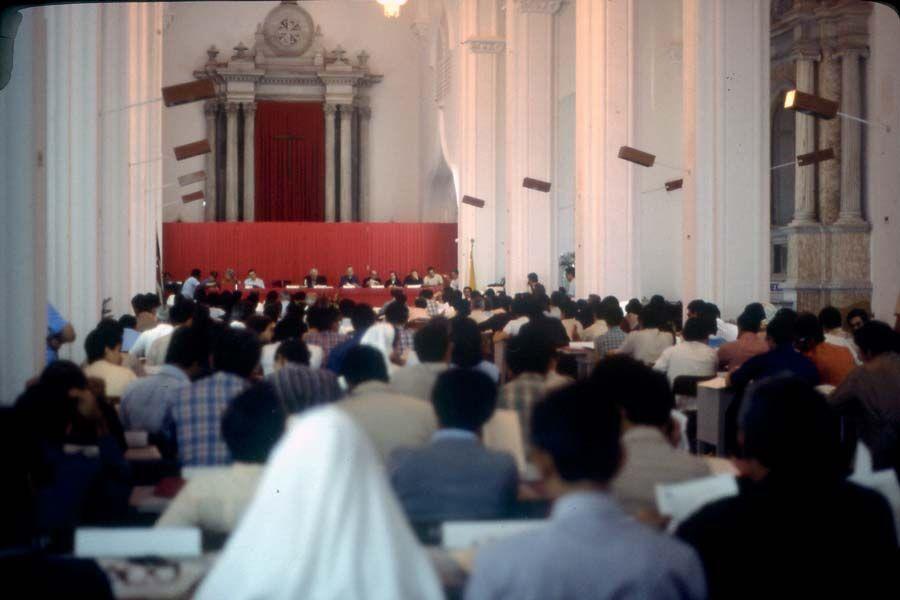 Templo de Santa Catalina de Siena, transformado en el aula plenaria del ENEC.
