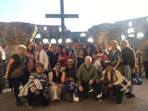 Delegación peregrina en su su recorrido por Roma