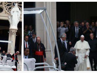 Cardenal Jaime Ortega y el Papa Francisco en su visita a Cuba