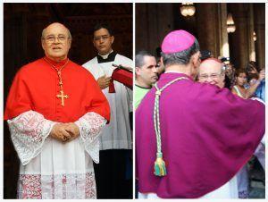 Cardenal Jaime Ortega y el nuevo arzobispo de La Habana, Monseñor Juan de la Caridad García