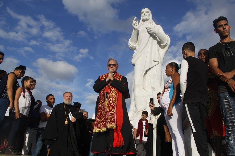 El cardenal arzobispo, Juan de la Caridad García, bendijo desde el Cristo de La Habana a la Ciudad