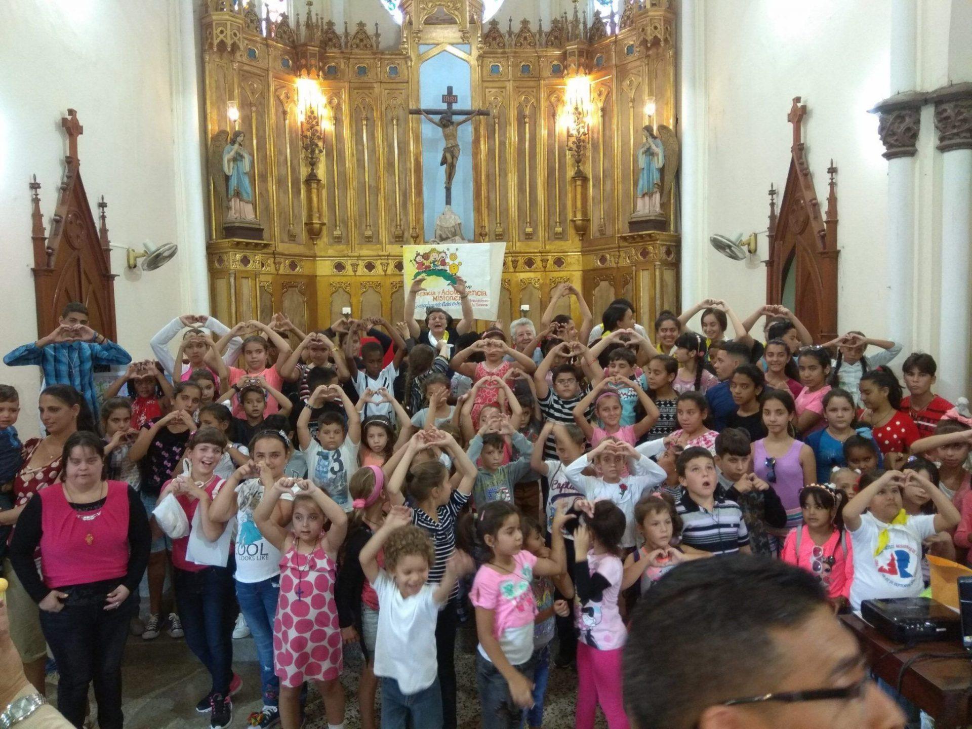 Niños de la Infancia Misionera de San José de las Lajas.