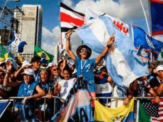 Jóvenes durante la JMJ de Panamá 2019. Crédito: Daniel Ibáñez (ACI)