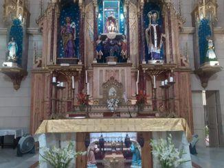 La imagen del joven San José obrero completa el retablo mayor del Santuario Nacional de San Lázaro en El Rincón