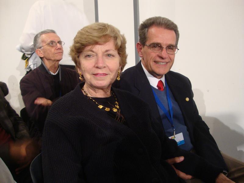 Gustavo y Chelita, su esposa.