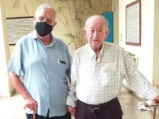 Fr. Manuel Uña Fernández y Fr. Cirilo González Santamaría
